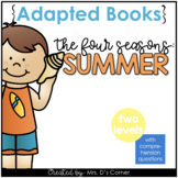 Summer Adapted Books [Level 1 and Level 2]