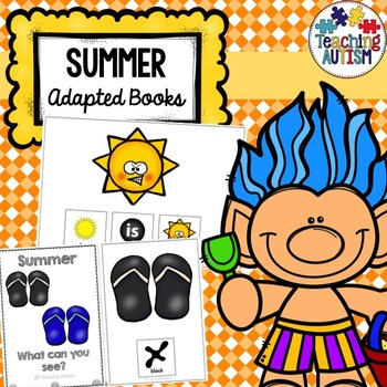 Summer Adapted Books, Sentence Building Pack