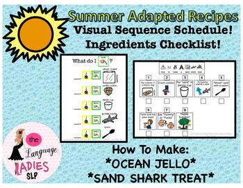 Summer Adapted Recipes: Visual Supports