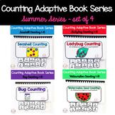 Summer Adaptive Counting Book Bundle (set of 4)