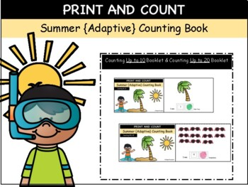 Summer {Adaptive} Counting Books