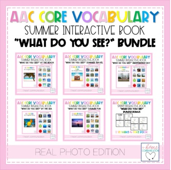 "Summer ""What Do You See?"" Adaptive Interactive Books for Autism - Real Photos"