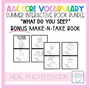 """Summer """"What Do You See?"""" Adaptive Interactive Books for Autism - Real Photos"""