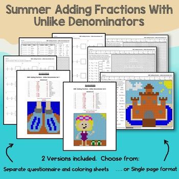 Summer Adding Fractions With Unlike Denominators