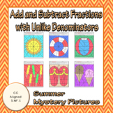 Summer Adding and Subtracting Fractions With Unlike Denomi