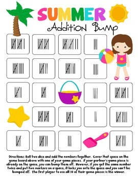 Summer Addition Bump Games