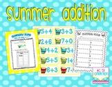 Summer Addition Center FREEBIE