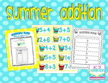 Summer Addition Center FREEBIE