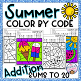 Summer Addition Color By Code