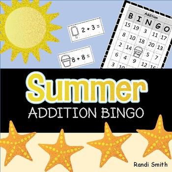 Summer Addition Fact Bingo