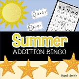 Summer Addition Fact Bingo