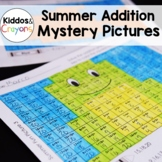 Summer Addition Facts Within 20 Color by Number Mystery Pictures