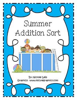 Summer Addition Fact Sort