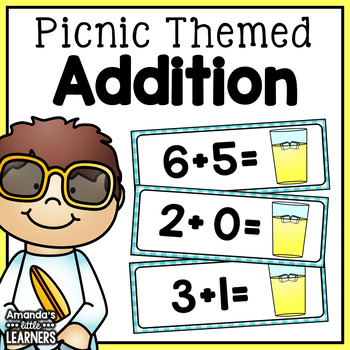 Summer Addition Game - Picnic Theme