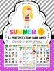Summer Addition & Multiplication Bump Games Bundle