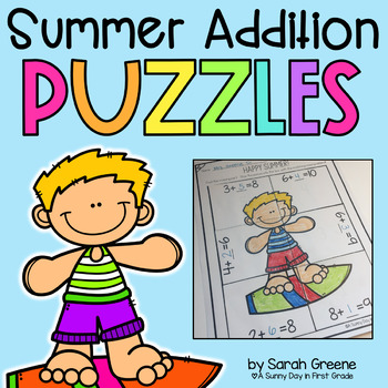 Summer Addition Puzzles!