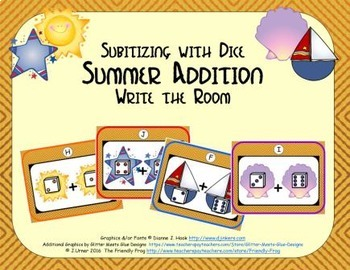 Summer Addition {Subitizing with Dice}
