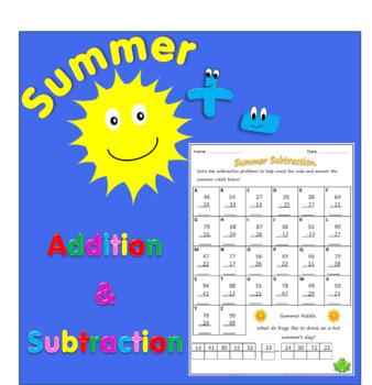 Summer Addition & Subtraction Worksheets.