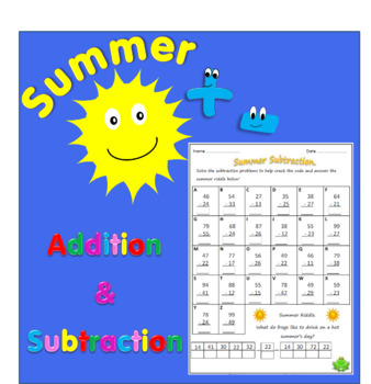 Summer Addition & Subtraction Worksheets.