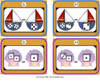 Summer Addition & Subtraction Bundle {Subitizing with Dice}