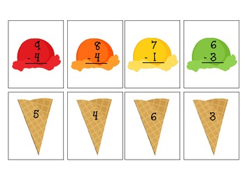 Summer Addition & Subtraction Cards