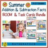 Summer Addition & Subtraction Math Facts 0-20 BOOM & Task