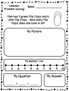 summer addition subtraction word problems kindergarten first. Black Bedroom Furniture Sets. Home Design Ideas