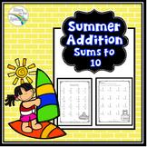 Summer Addition Worksheets