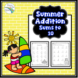 Summer Addition Worksheets