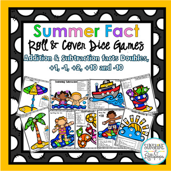 Summer Addition and Subtraction Fact Dice Games