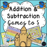 Addition and Subtraction Games Within 5 {Summer}
