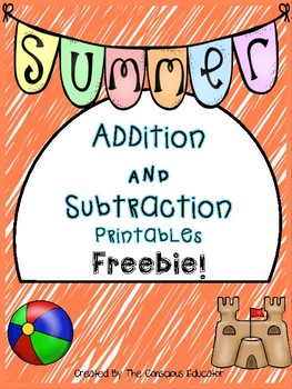 Summer Addition and Subtraction Printables-Freebie!