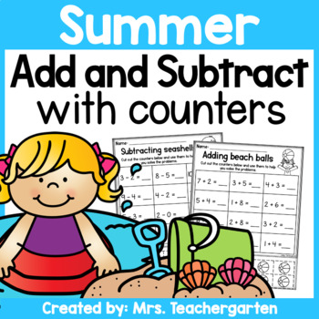 Summer Addition and Subtraction with counters