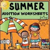 Summer Addition to 20 Fact Fluency Worksheets