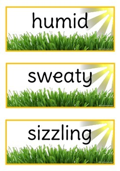 Summer Adjectives