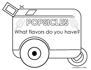 Summer Adjectives - Popsicle Activity