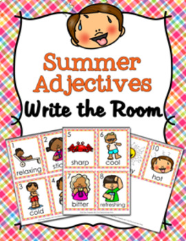 Summer Adjectives Write The Room Activity