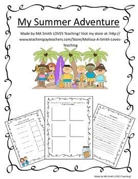 Summer Adventure Scrapbook - Close That Summer Gap