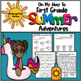 On My Way to First Grade Summer Adventures-Kindergarten Review