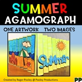 Summer Agamograph Art Activity