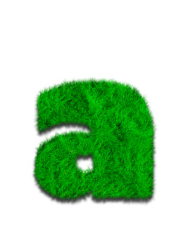 Summer Alphabet Clip Art: Letters, Numbers and Symbols. Meadow Grass
