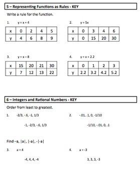 Algebra Warm Ups