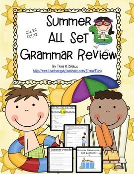Summer All Set Grammar Review
