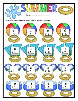 Summer All Set Math Addition and Subtraction Review