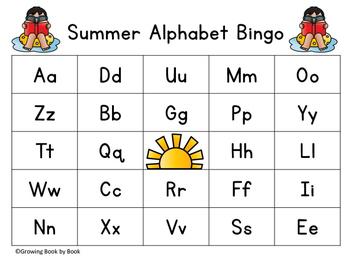 Summer Alphabet Bingo