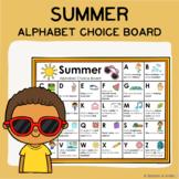 Summer Alphabet Choice Board