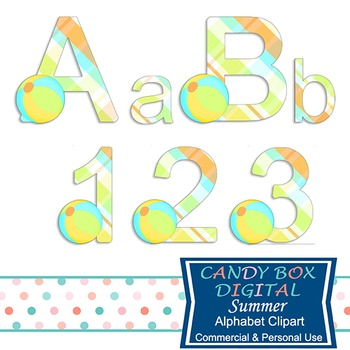 Summer Alphabet Clip Art