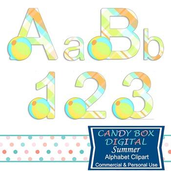 Summer Alphabet Clip Art
