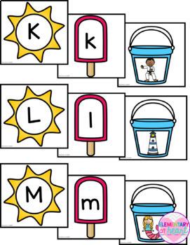 Summer Alphabet Match (Pre-K & K)