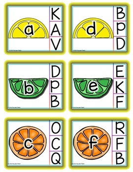 Summer Alphabet Uppercase and Lowercase Match and Clip